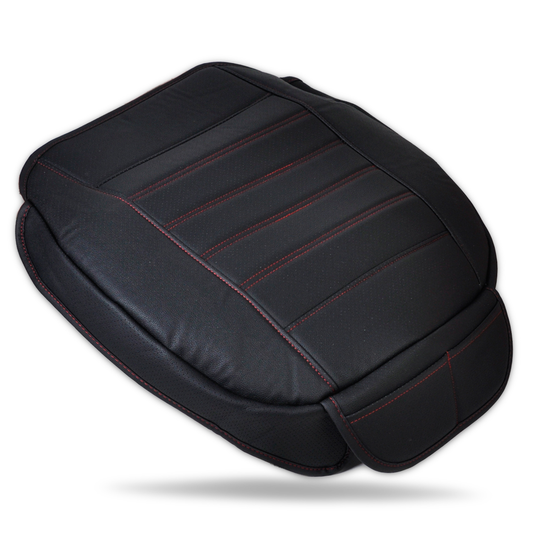 universal car black beige front seat cover breathable pu leather cushion seatpad ebay. Black Bedroom Furniture Sets. Home Design Ideas
