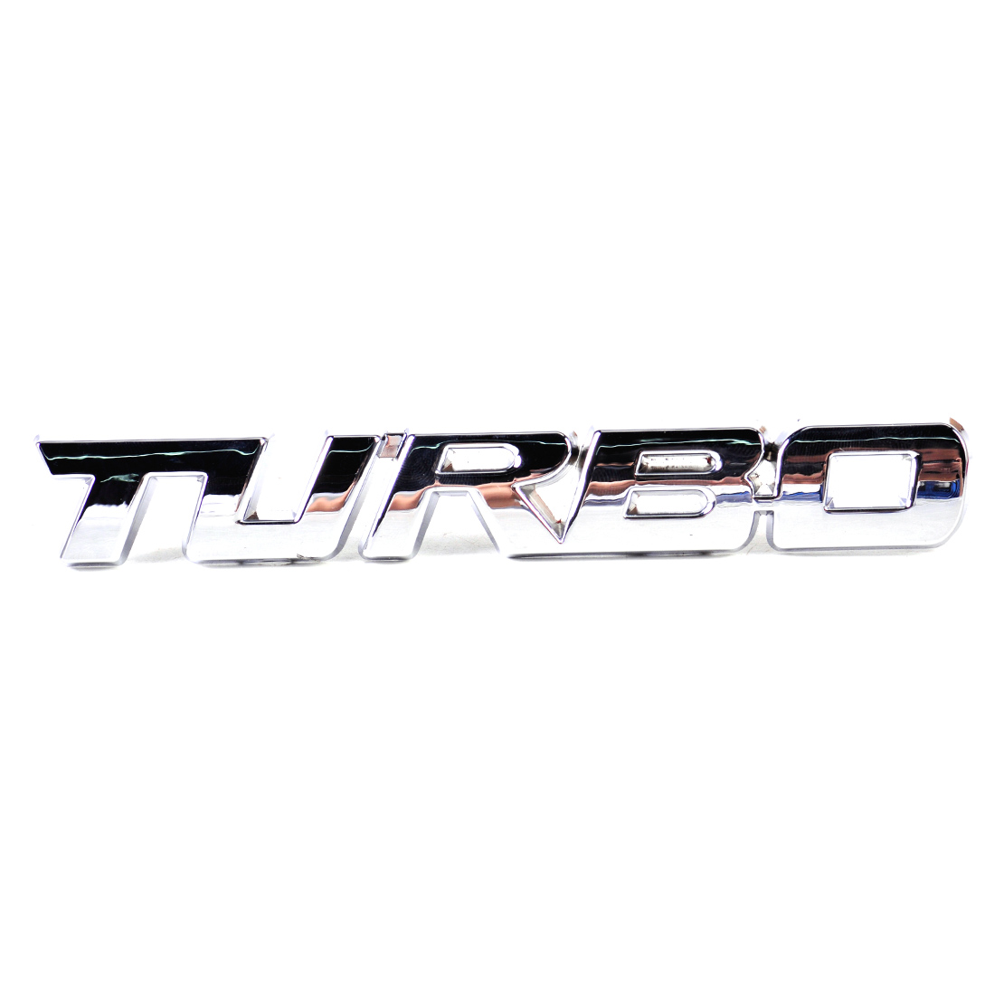 1pc 3d Turbo Metal Emblem Badge Logo Sticker Decal Red Silver Car 1953 Ford Crown Victoria Trunk