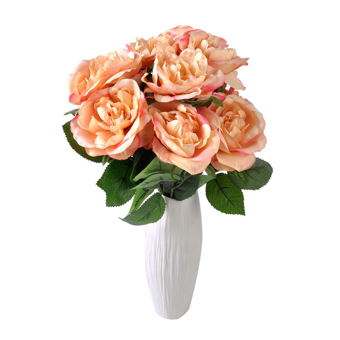 10 Head Rose Flowers Latex Real Touch for Wedding Home Decor Bouquet Party