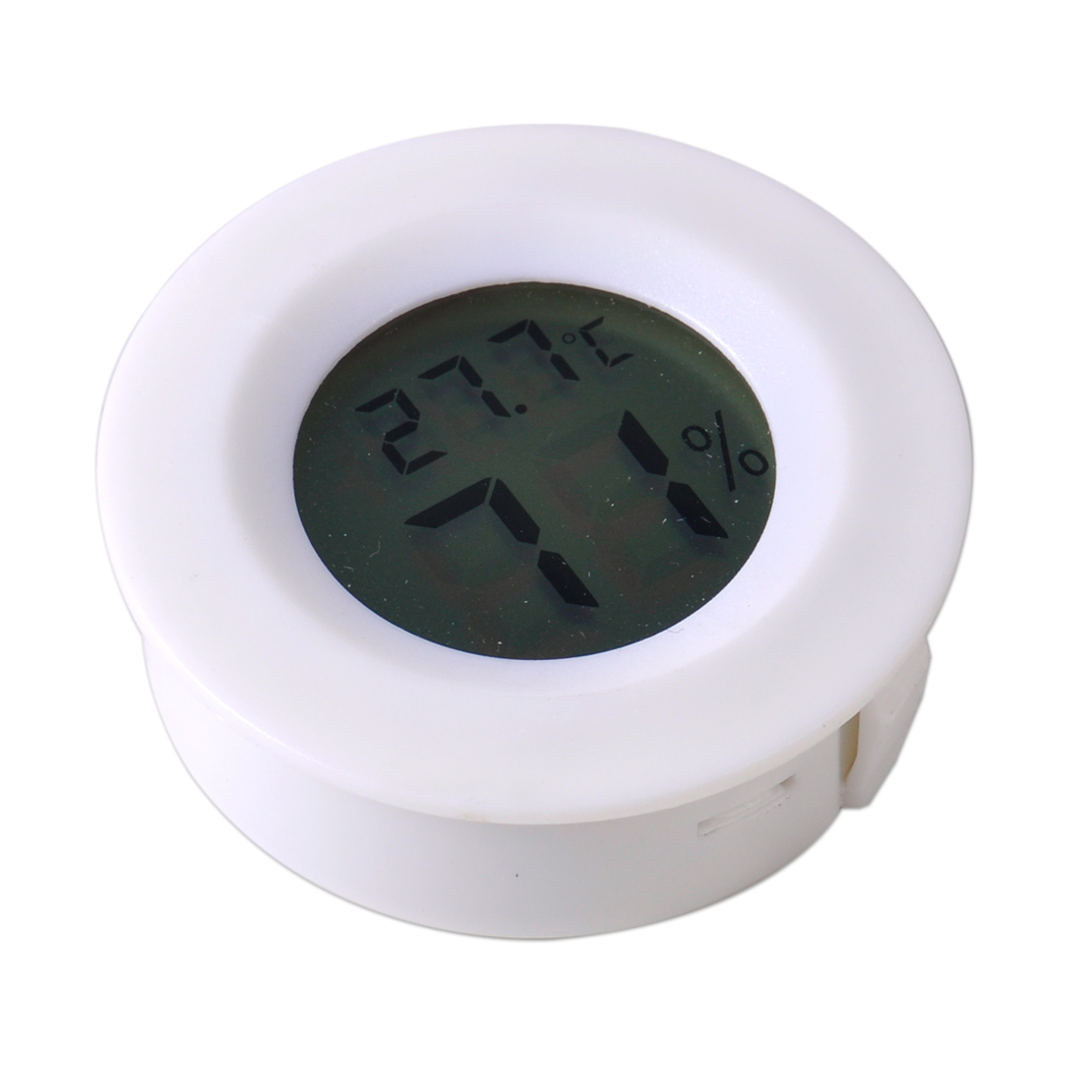 Cigar Humidor LCD Humidity Hygrometer Temperature Thermometer Round #73644E