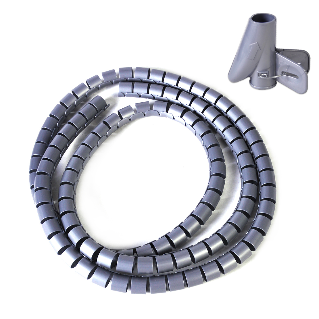 1.5M Spiral Cable Wrap Banding Loom Wire Tube Tidy Management ...