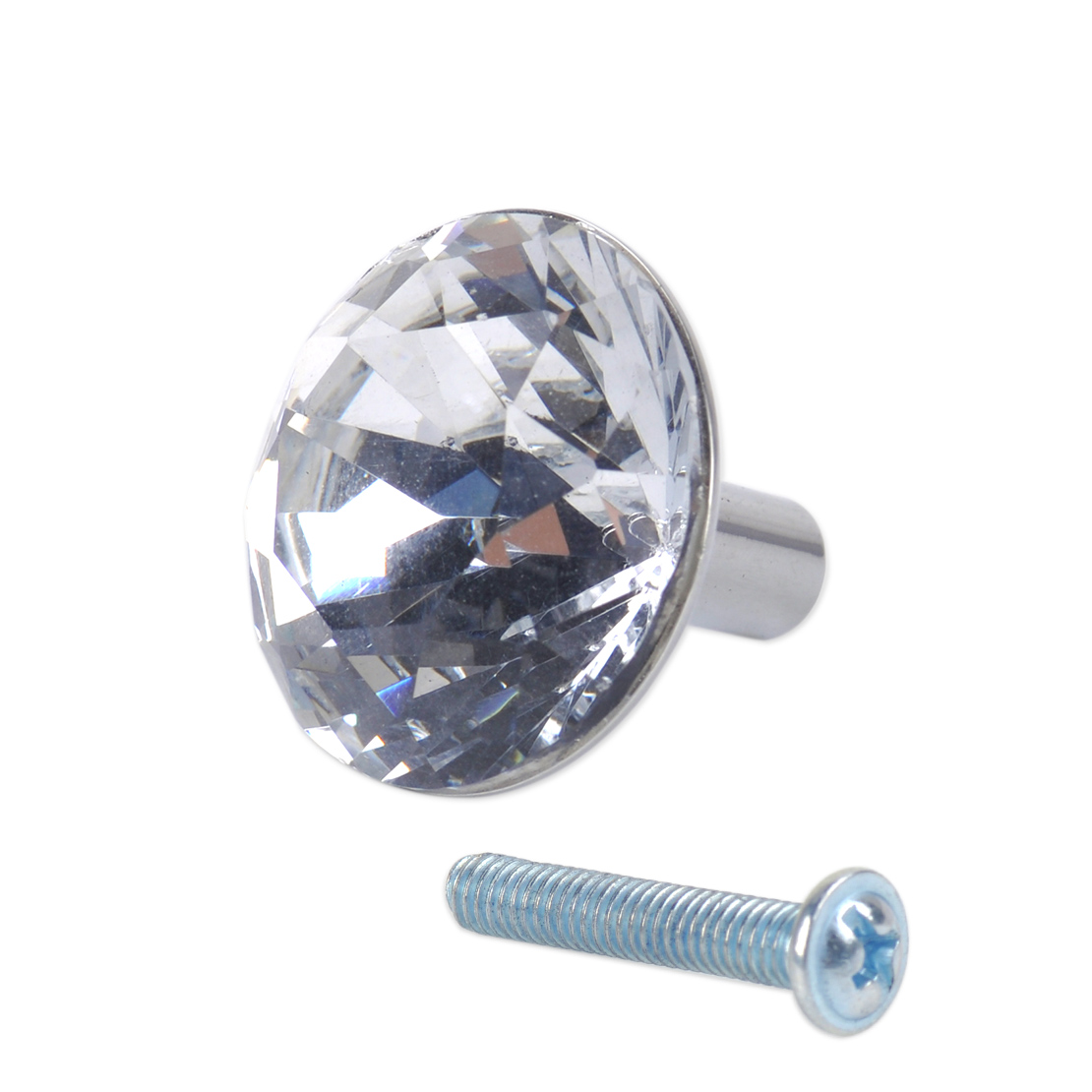 Glass diamond crystal dresser knobs drawer furniture pull handle cabinet door ebay Glass furniture pulls