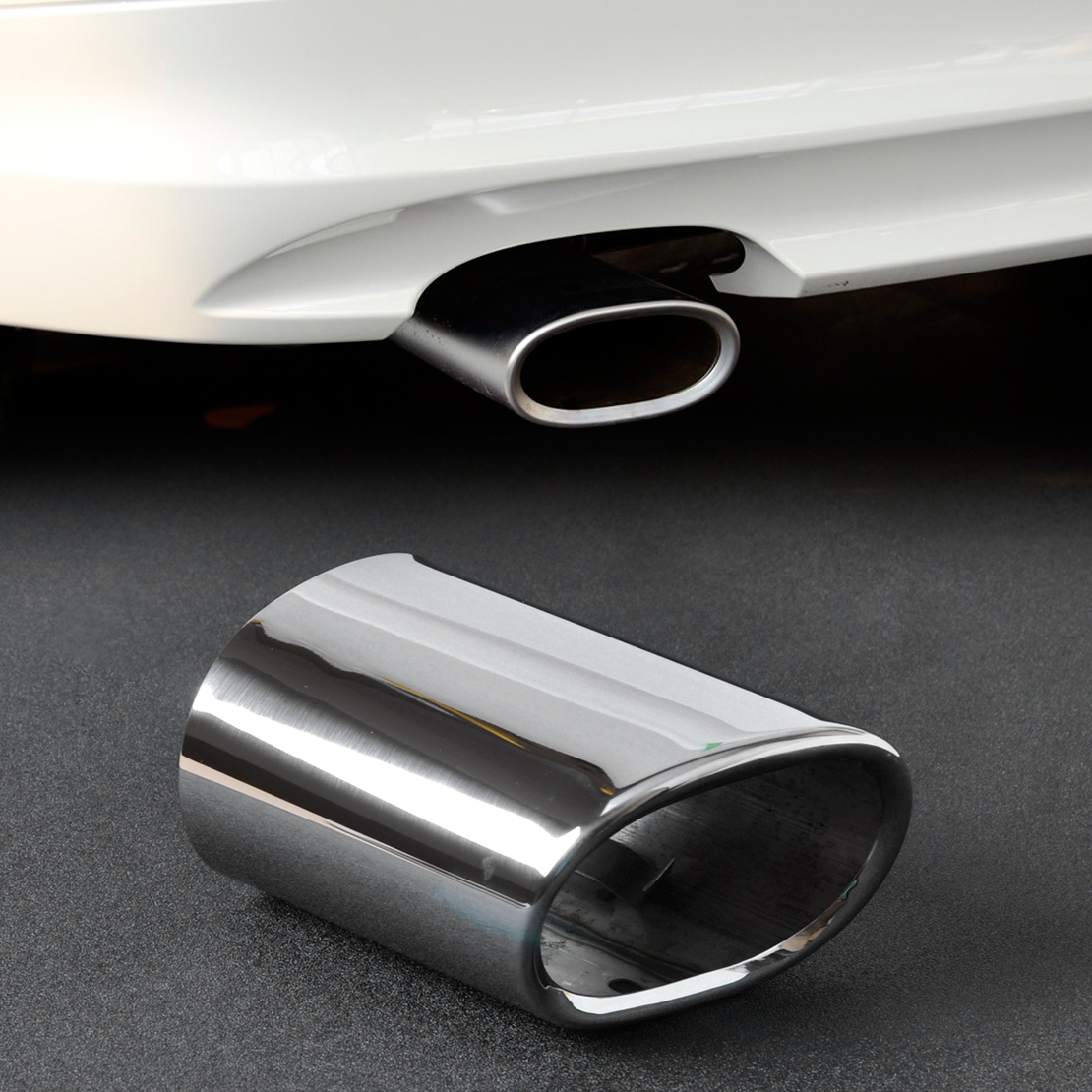 Steel Exhaust Tail Rear Muffler Tip Pipe For Bmw E90 E91