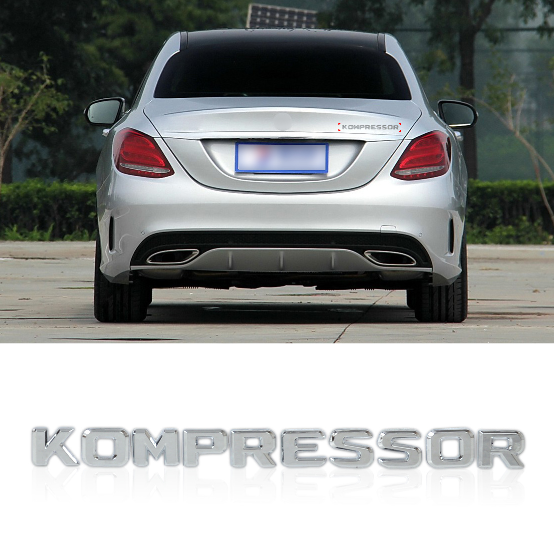 For mercedes benz kompressor 3d chrome badge emblem logo for Mercedes benz insignia