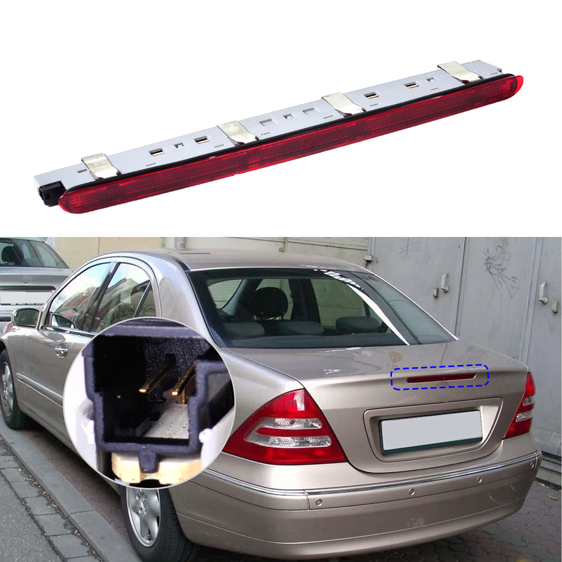 rear tail third brake light for mercedes benz c class w203 c230 c240 c280 c350 ebay. Black Bedroom Furniture Sets. Home Design Ideas
