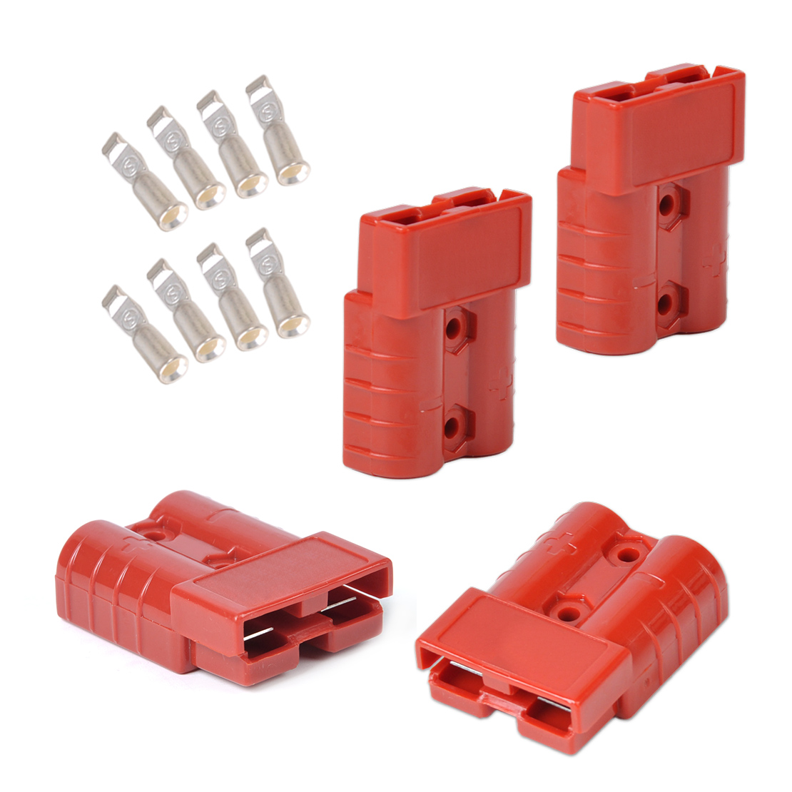 Quick Connect Battery Cable Connectors : Red battery quick connector plug connect disconnect