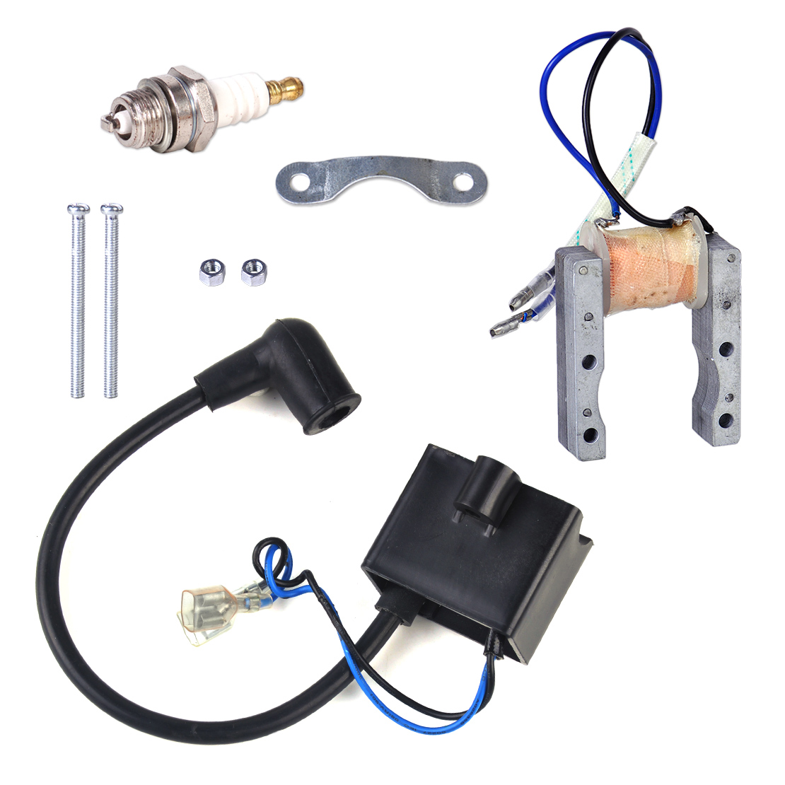 Ignition Coil Spark Plug Magneto For 49 50cc 60cc 80cc Engine 2 Cycle Wiring Schematic