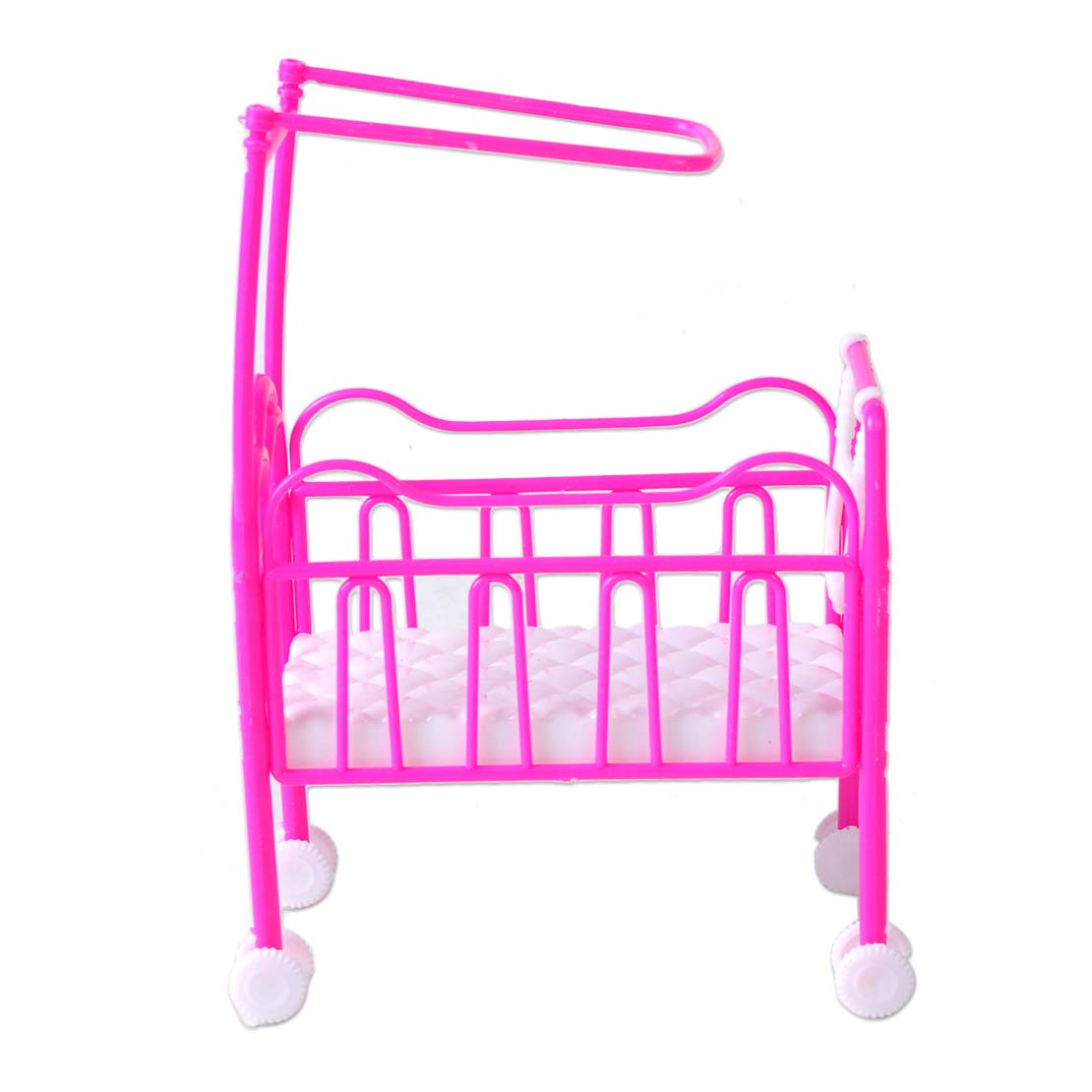Plastic infant baby cradle bed dollhouse bedroom furniture for barbie doll toy ebay Plastic bedroom furniture