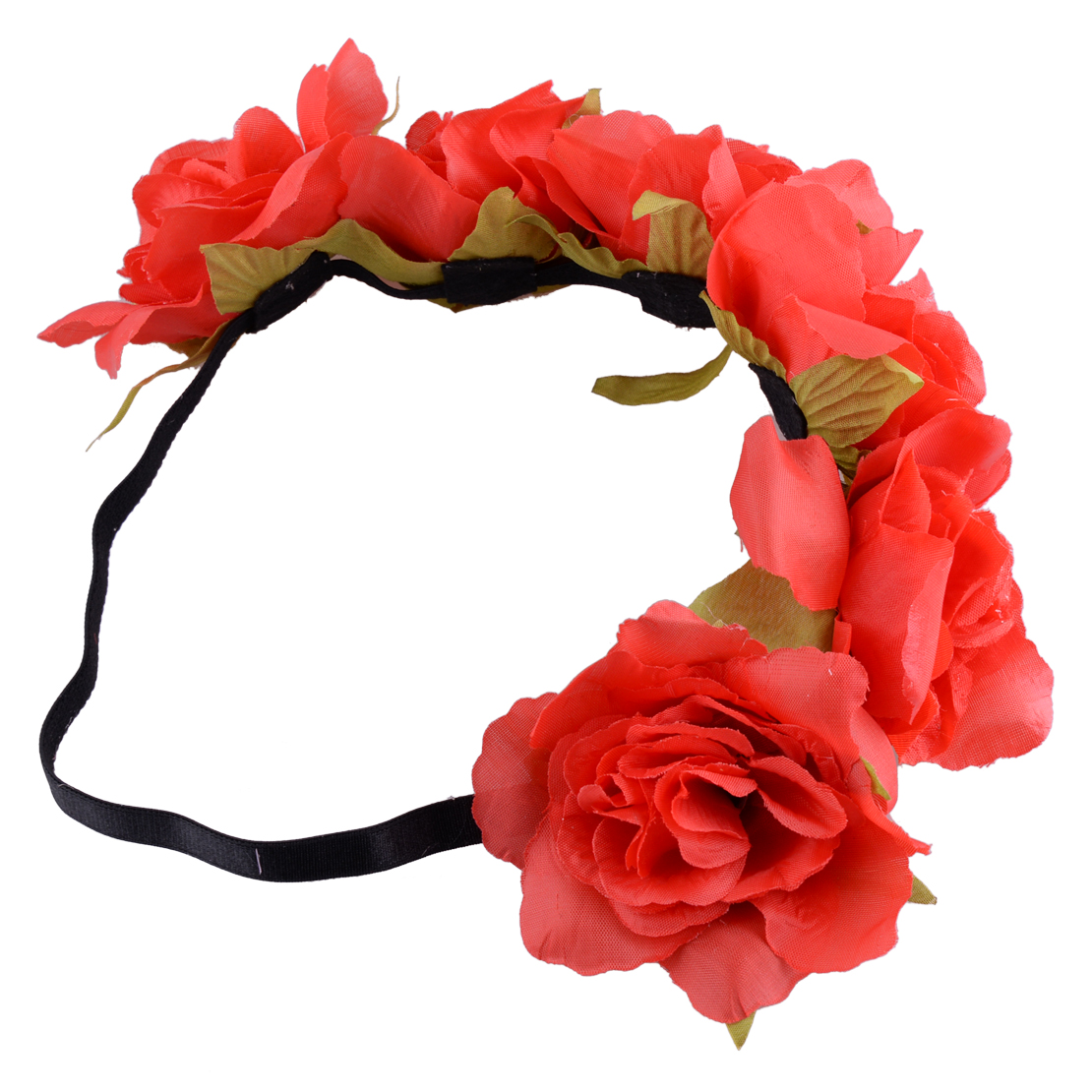 Girl Crown Floral Rose Flower Headband Hairband Wedding Hair Garland
