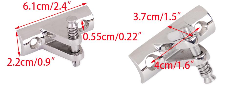 EK96422 Mittelstück extra AISI316 22mm Klappnasenbolzen