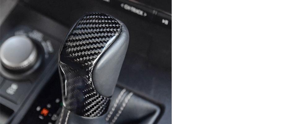 For Lexus ES GS IS RX NX RC LF-C2 Carbon Fiber AT Gear Shift Knob Trim Cover