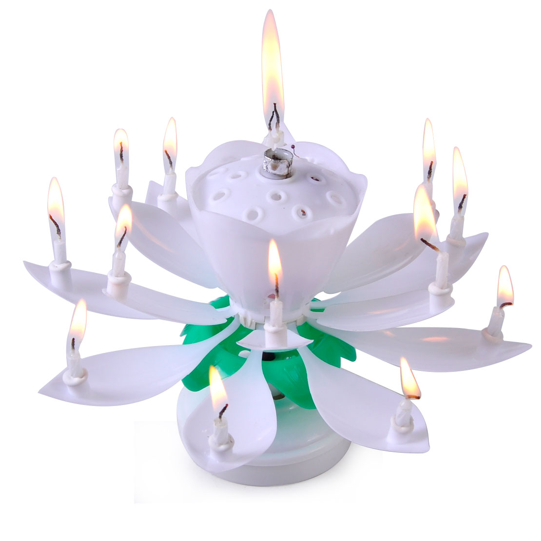 Hot Lotus Candle Music Happy Birthday Rotating Lights Flower