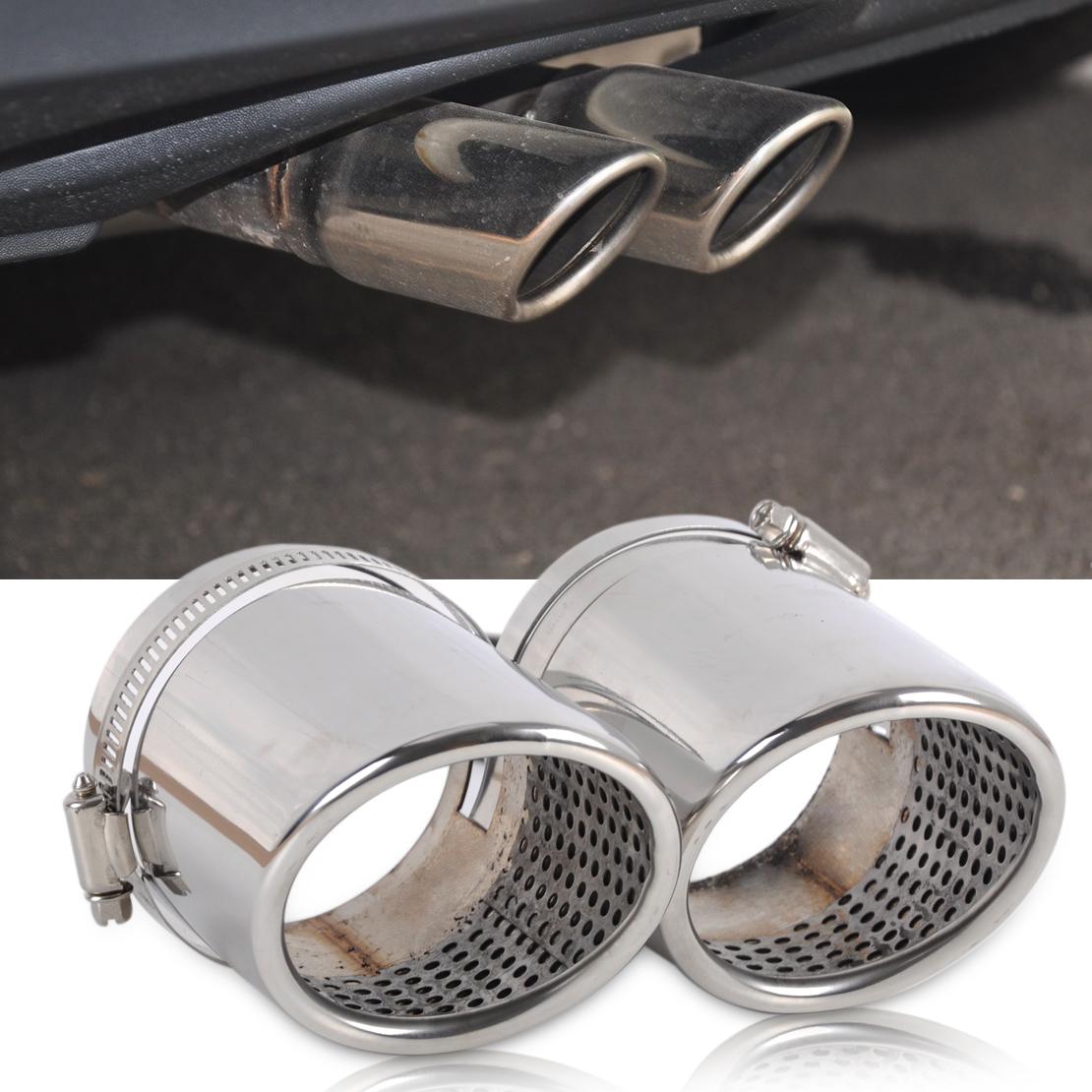 2x Chrom Auspuffblende Auspuff Endrohr Edelstahl für VW Tiguan Audi Q5 2.0 A4 B8