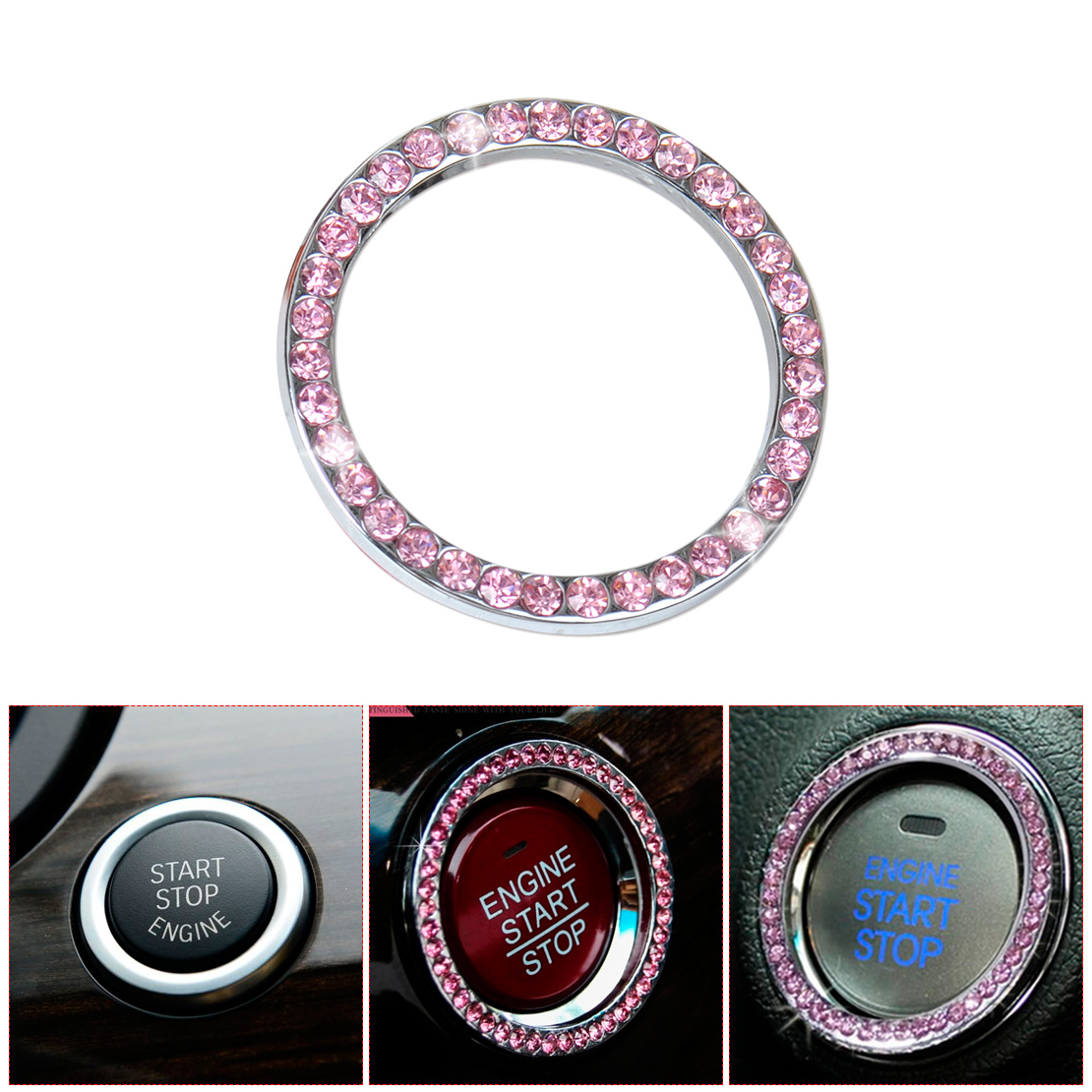 pink auto start stop knopf zigarette fe rzeug ring f r bmw. Black Bedroom Furniture Sets. Home Design Ideas
