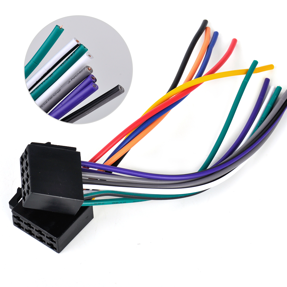 1 universal car stereo radio female iso plug adapter wiring harness universal wiring harness connector at gsmx.co