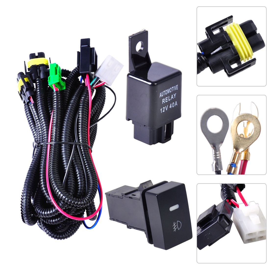 Ford Focus Acura Nissan Wiring Harness Sockets   Switch For H11 Fog Light Lamp