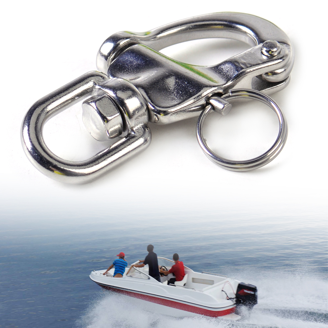 Marine Boat Snap Shackle Swivel Bail Yacht Sailing Hardware Stainless Steel