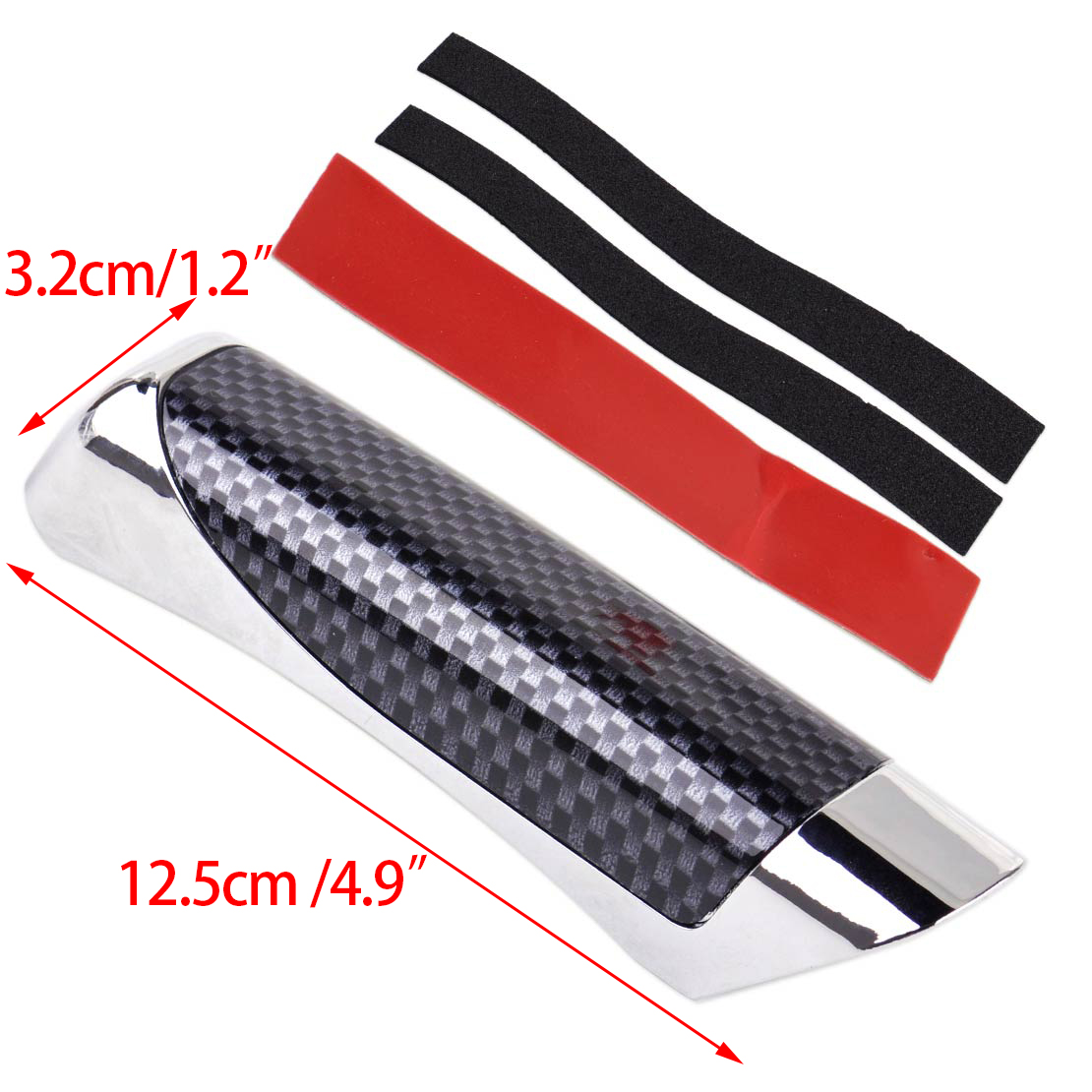 Universal Red Hand Brake Protector Cover Carbon Fiber Car Accessory Decoration