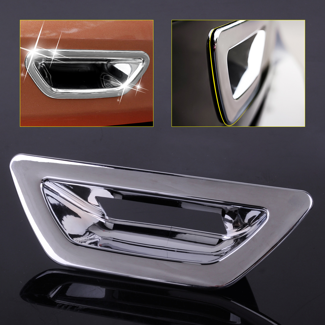 Chrome Door Handle Bowl Cup Cover For 2014-2017 Nissan X-Trail Rogue 8PCS T32
