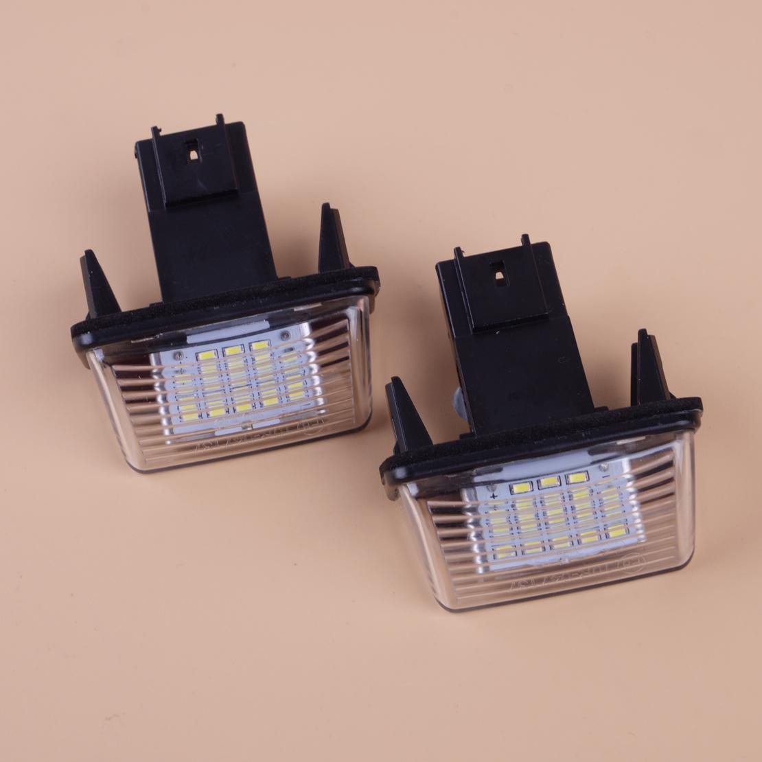 2 Light Bulbs LED For Lighting Plate Peugeot 206 207 307 308 407 3008 5008