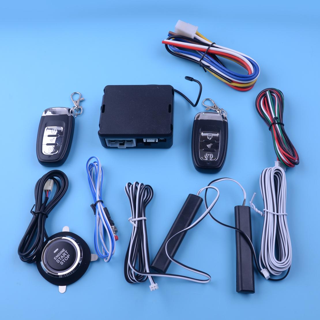 PKE Auto Alarm System Passive Keyless Entry Push Button Remote Engine Start//Stop