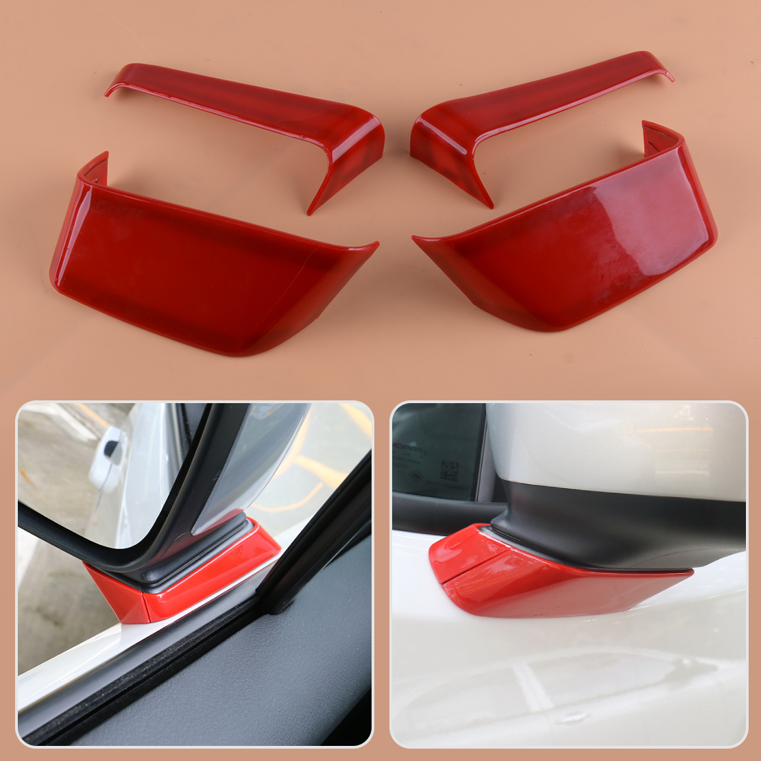 ABS Chrome Base Side Rear View Mirror Trim For Jeep Renegade 2015-2018