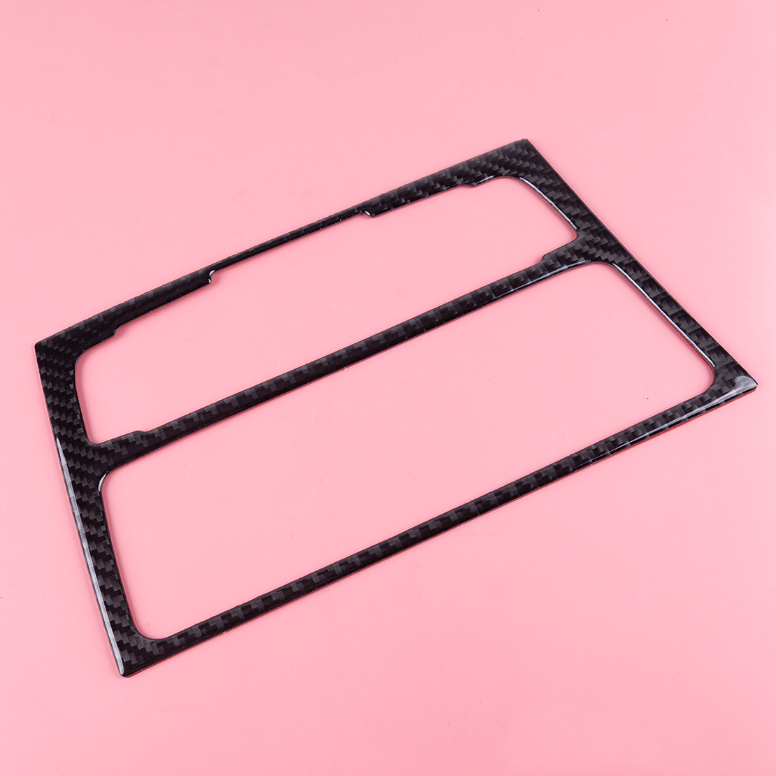 Fit For Audi A4 B8 A5 Carbon Fiber Center Console AC//CD Panel Cover Trim Frame