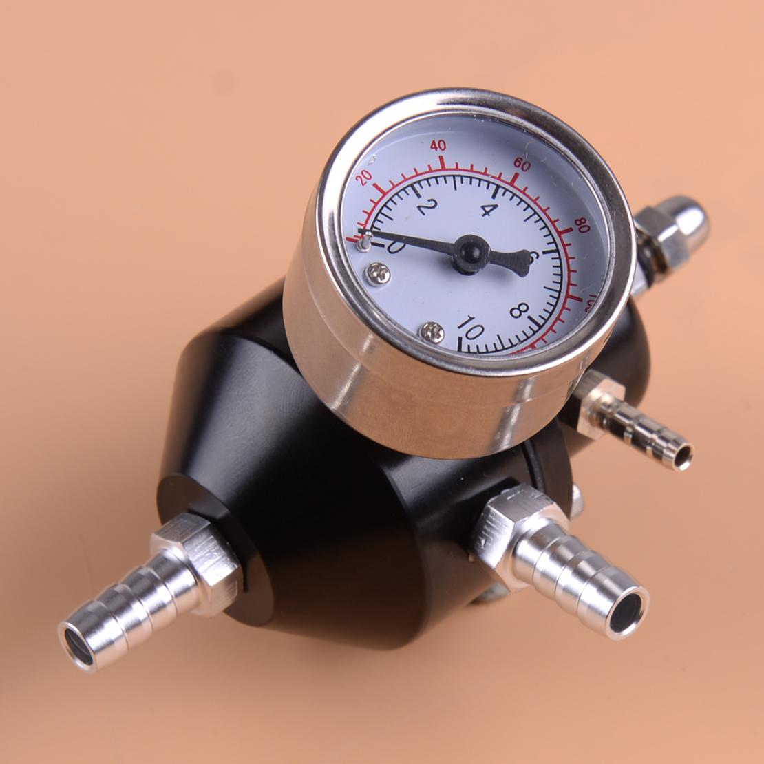 Universal Fuel Pressure Regulator with Gauge 0-140 Psi Adjustable Set