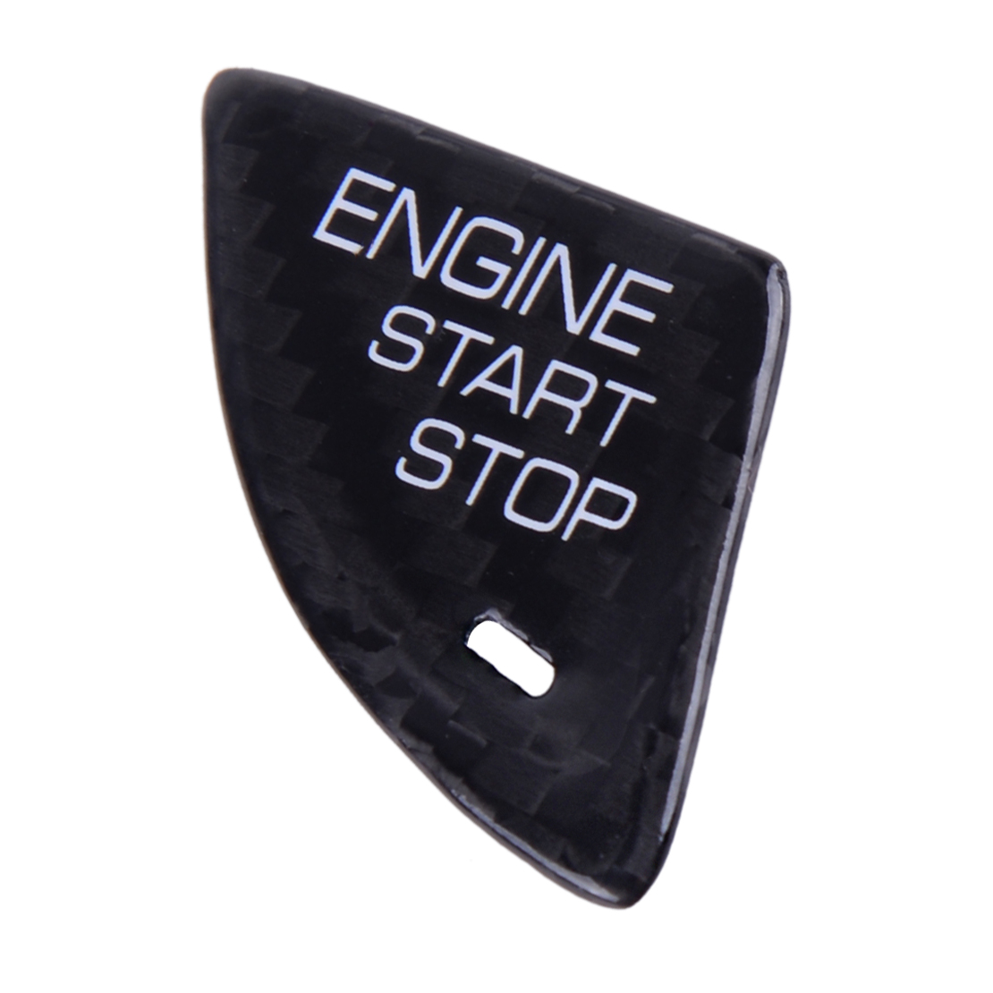 Carbon Fiber Engine Start Stop Button Cover Trim Fits For