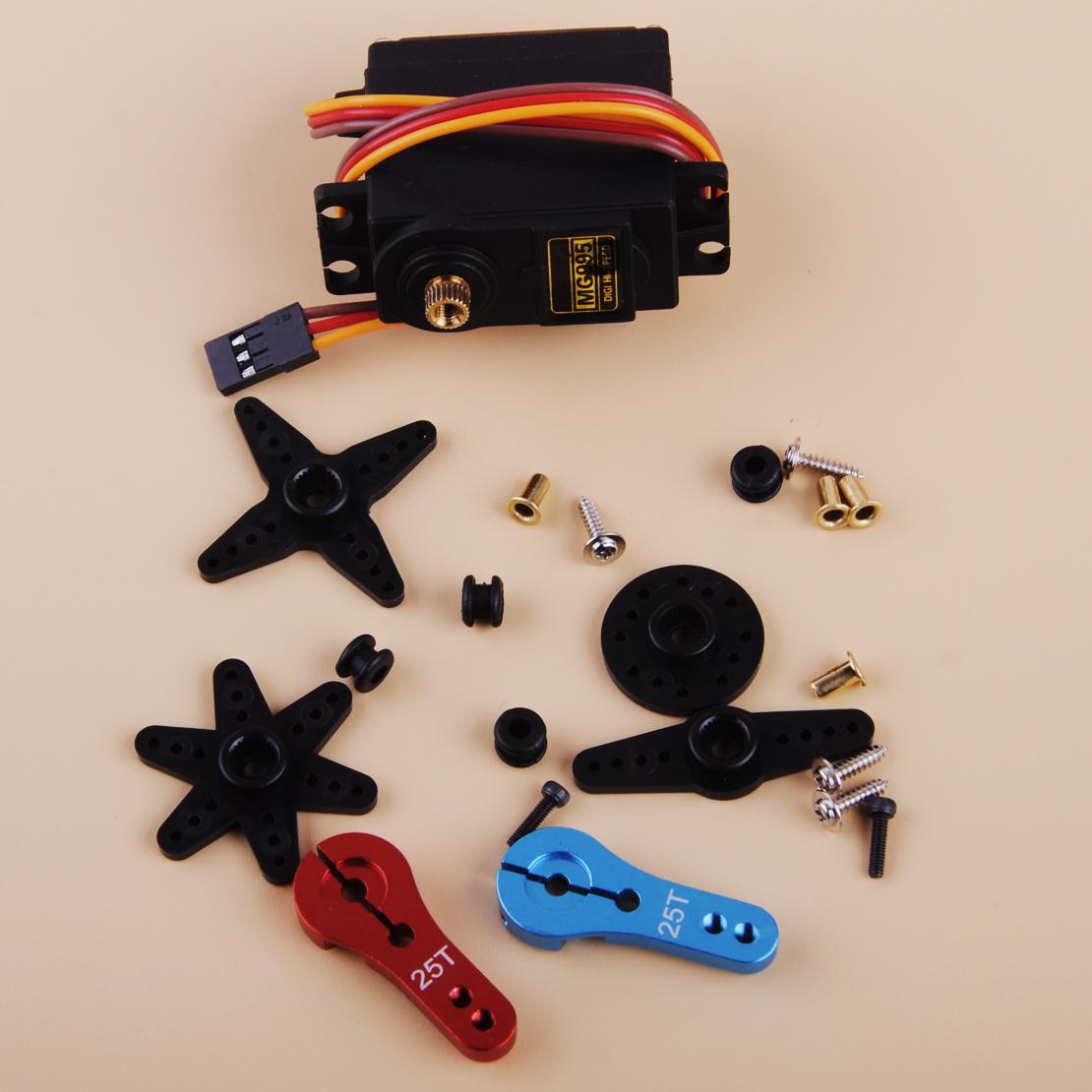 13kg Servomotor Metallgetriebe Motor Servo MG995 Zubehör für 1//10 1//8 RC Auto