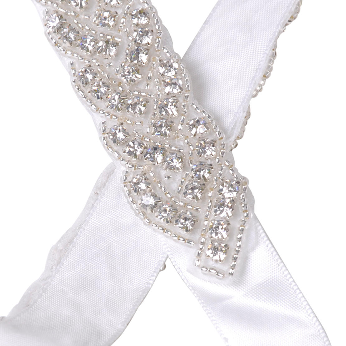 Beauty rhinestone bridal sash waist belt satin ribbon for Rhinestone sash for wedding dress