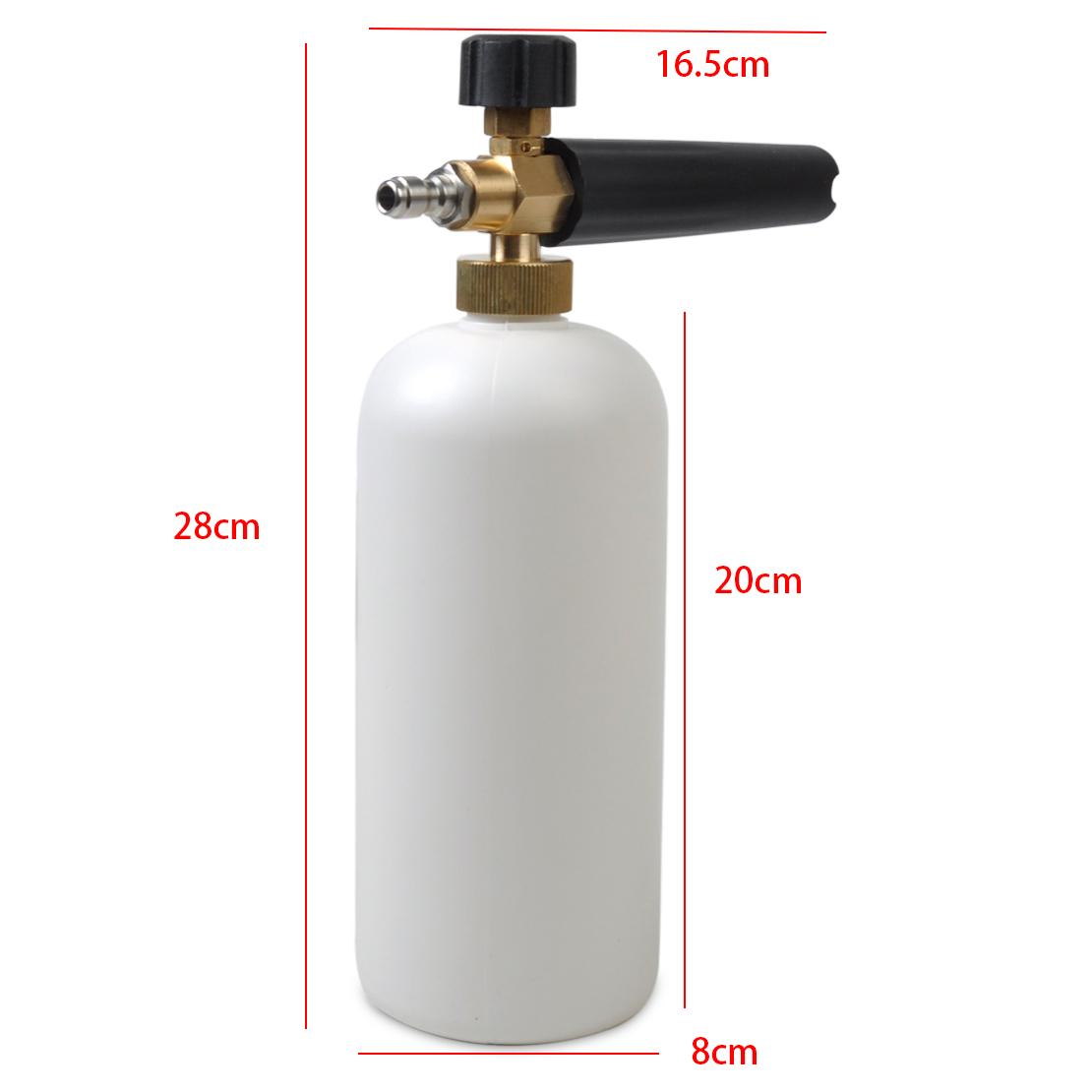 """For Car Wash Adjustable Snow Foam Lance Washer Soap 1L Bottle Gun 1//4/"""" F Inlet"""