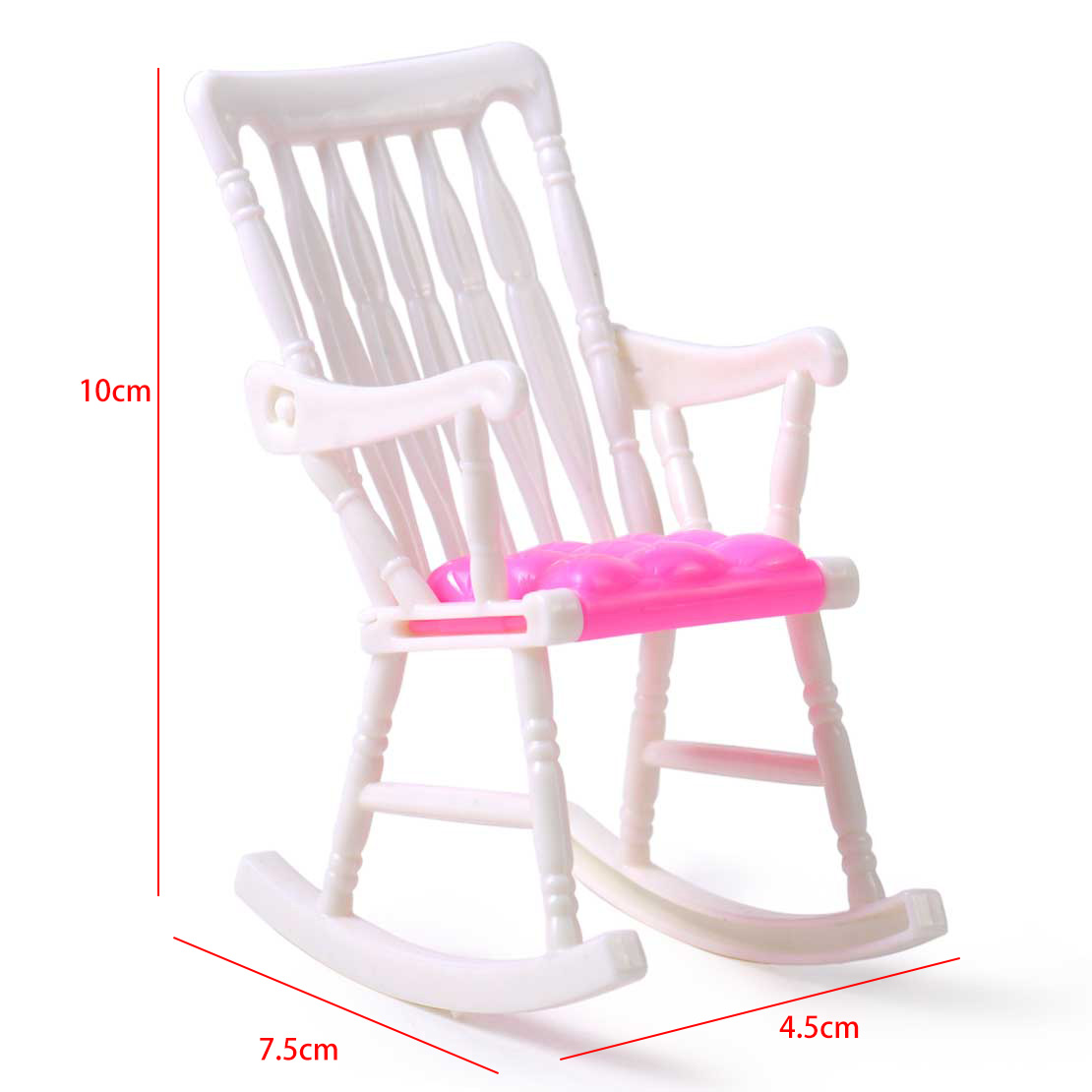 for lovely barbie doll room dollhouse nursery miniature furniture rocking chair ebay. Black Bedroom Furniture Sets. Home Design Ideas