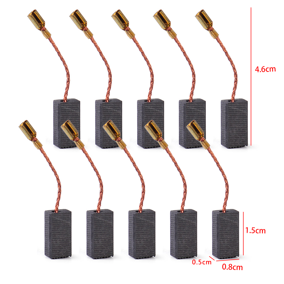 10pcs carbon brushes for bosch gws 850 c gws 7 115 gws 8. Black Bedroom Furniture Sets. Home Design Ideas