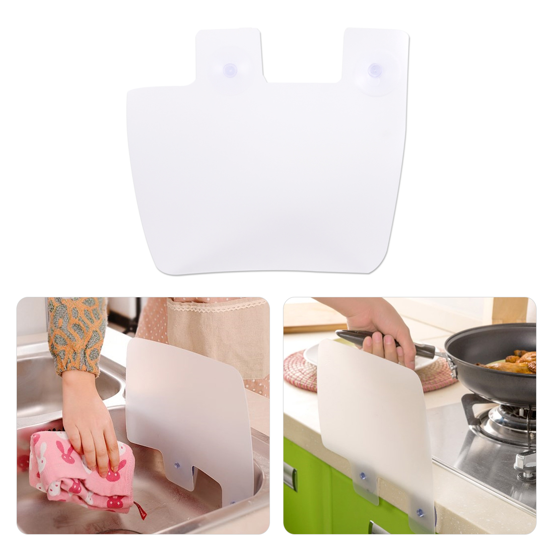 Sink water splash guards kitchen water spitting baffle for Splash board kitchen