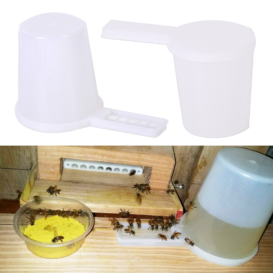 NEW Beekeeping Honey Entrance Water Drinker Bowl Bee Feeder Hive Tools Useful