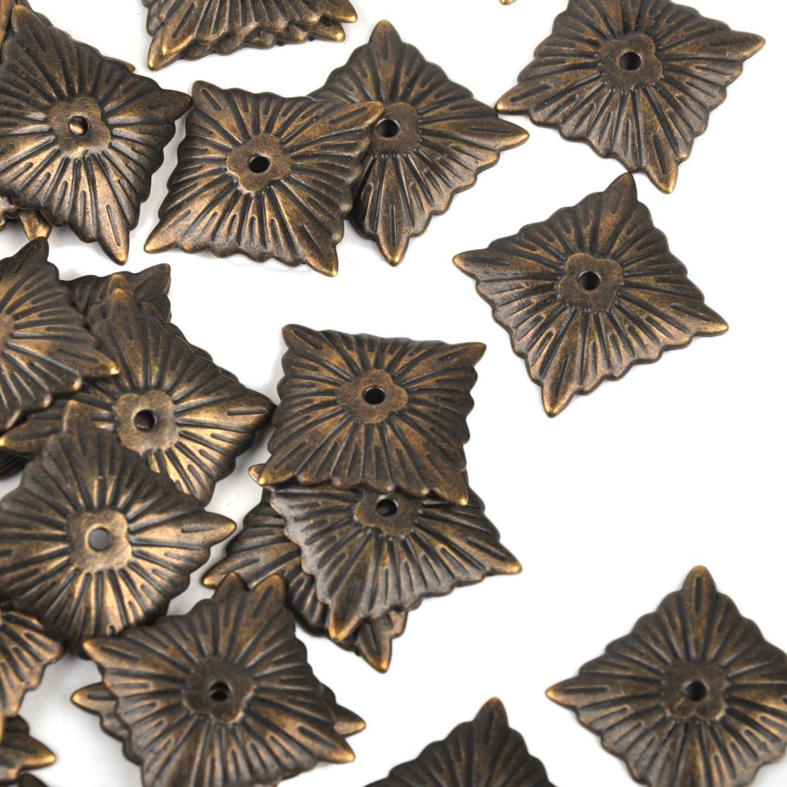 100stk Möbelnägel Bronze Farbe Ziernägel Viereck Polsternägel Schraube Nail Deko