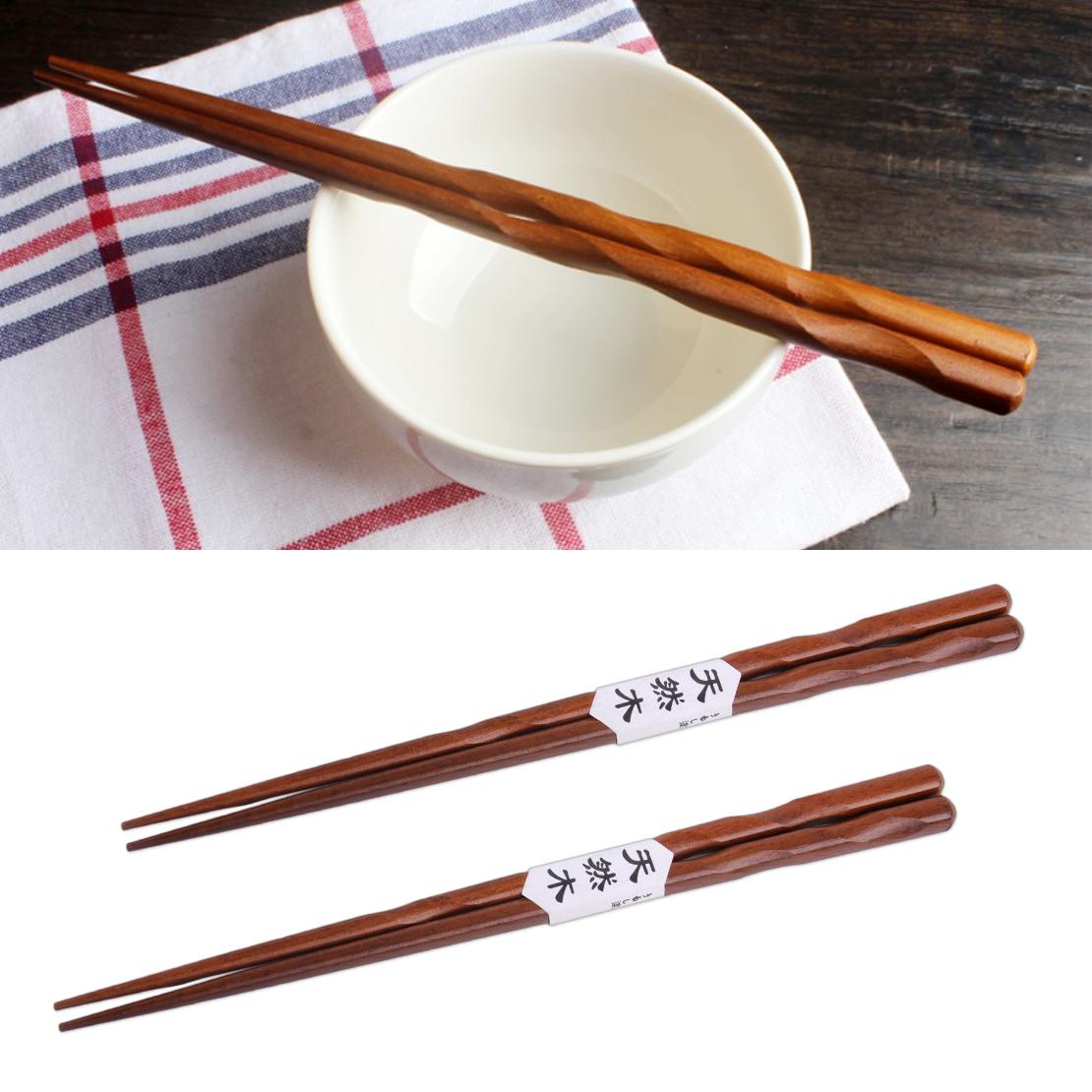Bambus Essstäbchen Chopsticks wiederverwendbar 10 Paar Asia Stäbchen 24 cm natur