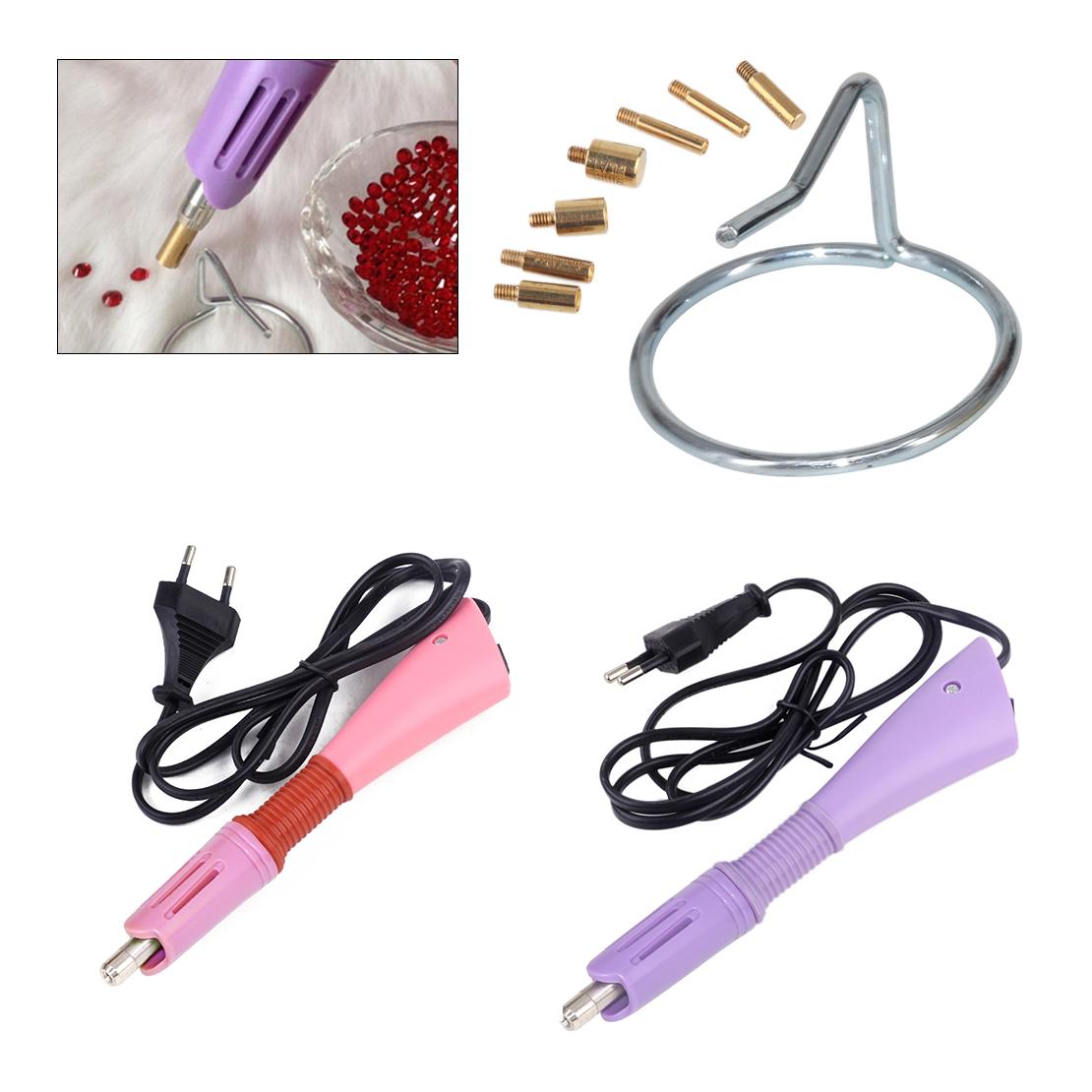 7 in 1 Iron-on Rhinestone Crystal Setter Tool Hot Fix Applicator Wand Pen Useful
