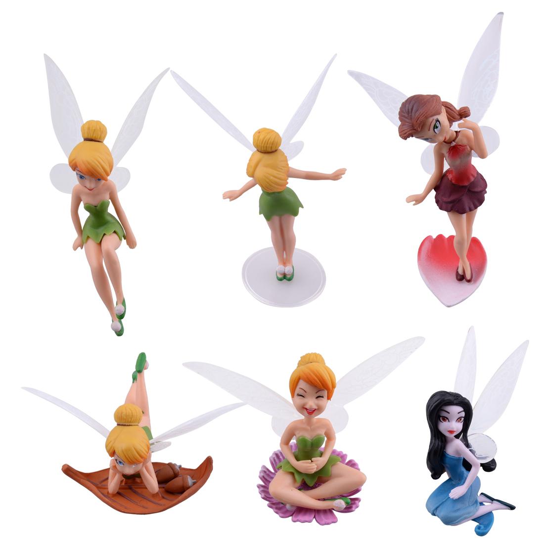 6X Blumen Fee Pixie Fly Flügel Familie Miniatur Puppenhaus Garten Ornament  ^