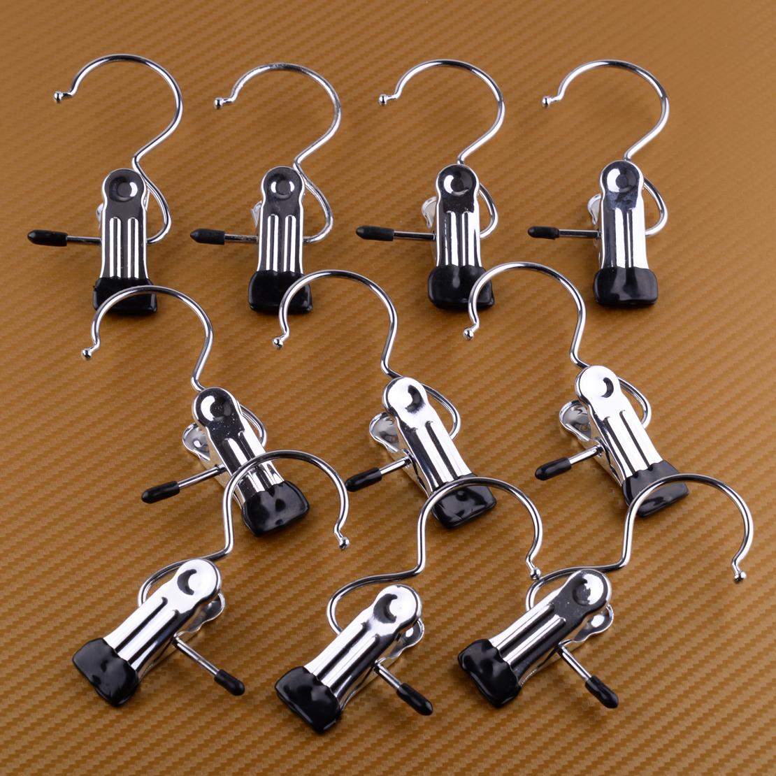 20x Metall Kleiderbügel Schuhklammer Hosenbügel Hosenklammer mit Clip Klammer