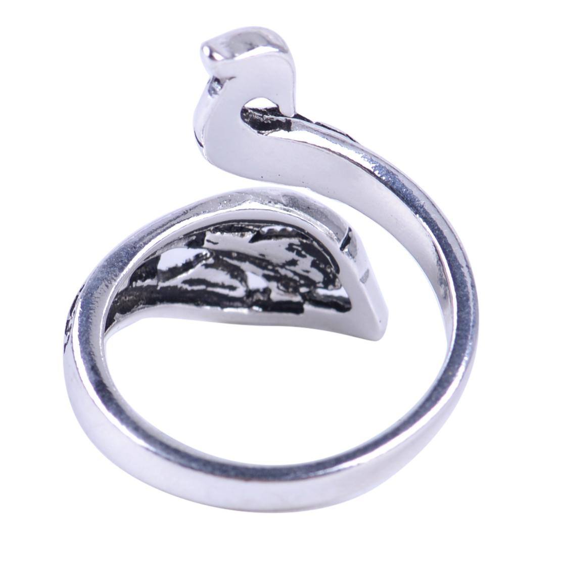 Vintage Stil Massive Silber Phoenix Vogel Verstellbar Offen Finger Ring