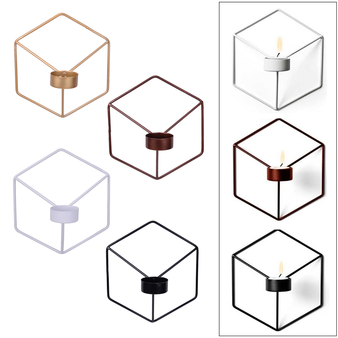 Retro Geometrische Kerzenständer Metall Wand Kerzenständer Nordischen Stil Dekor