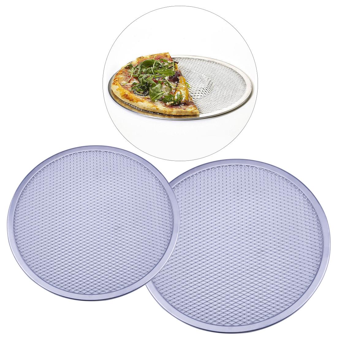 DE Aluminium runden Pizzagitter Pizza Gitter Screen Pizza Pizzascreen Pizzamatte