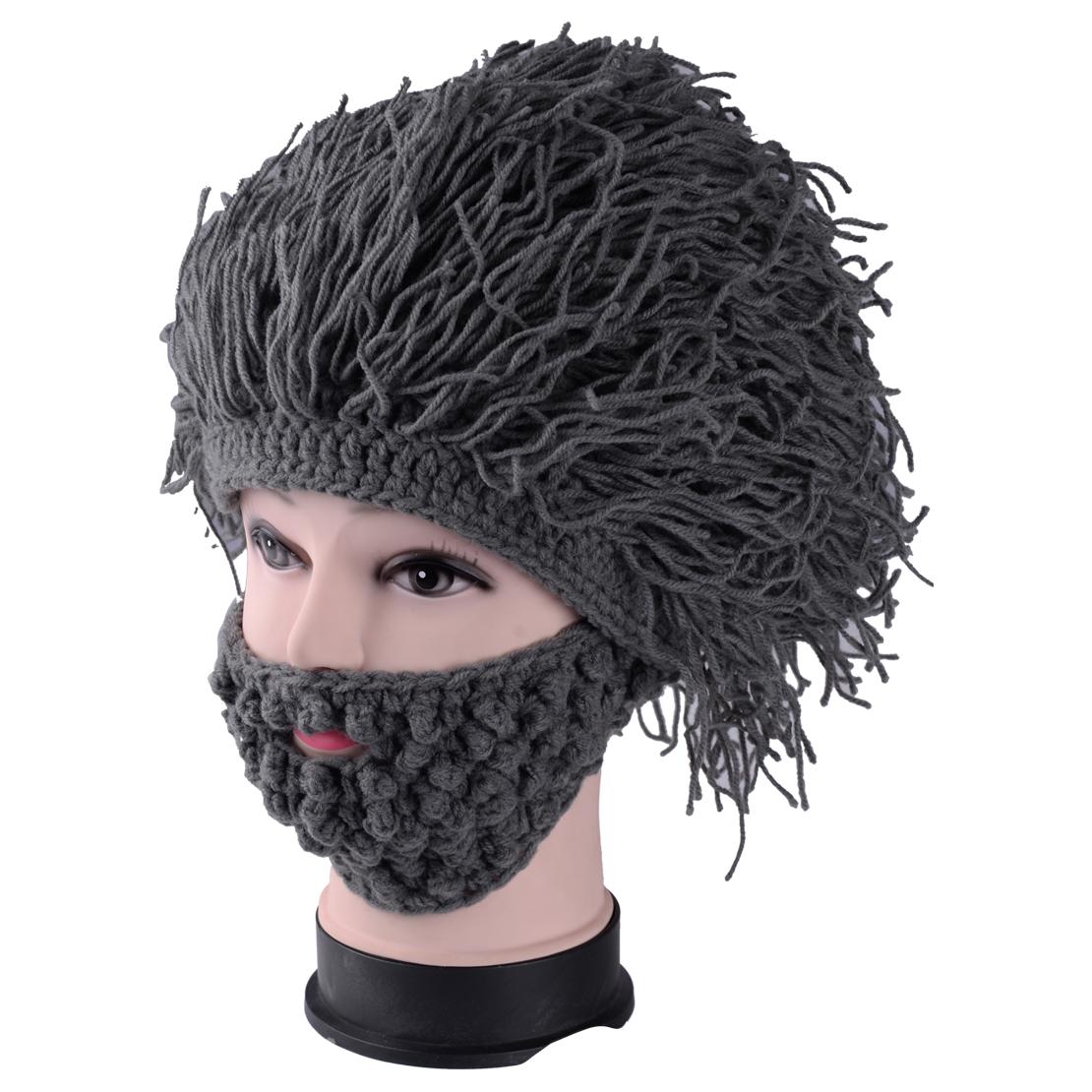 947283decff Details about hand knitted crochet beanie cap hat mask winter funny  creative beard caveman jpg 1110x1110