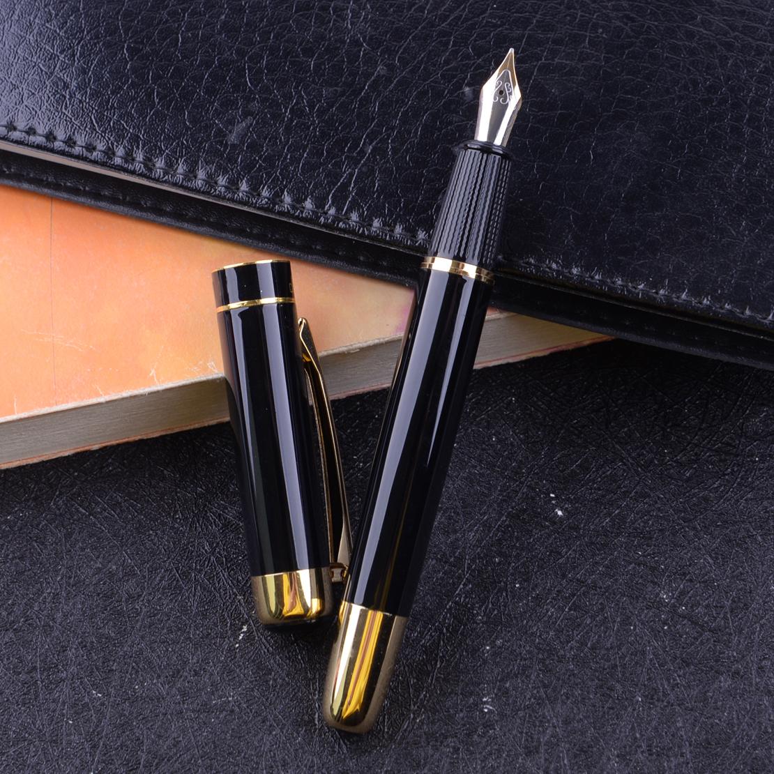 Neu 9018 Luxus Füllfederhalter Füllhalter Iridium Gold /&Schwarz Füllfederhalter